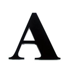 "Letra ""A"" 11cm Acrílico Preto Kami Acrílicos"
