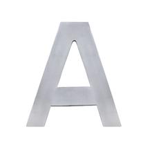 """Letra """"A"""" 22cm Alumínio Cinza"""