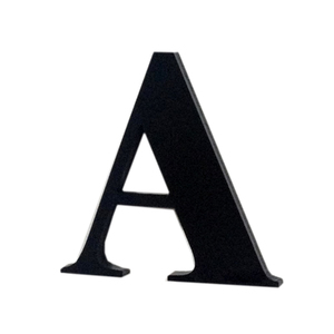 "Letra ""A"" 4cm Acrílico Preto Kami Acrílicos"