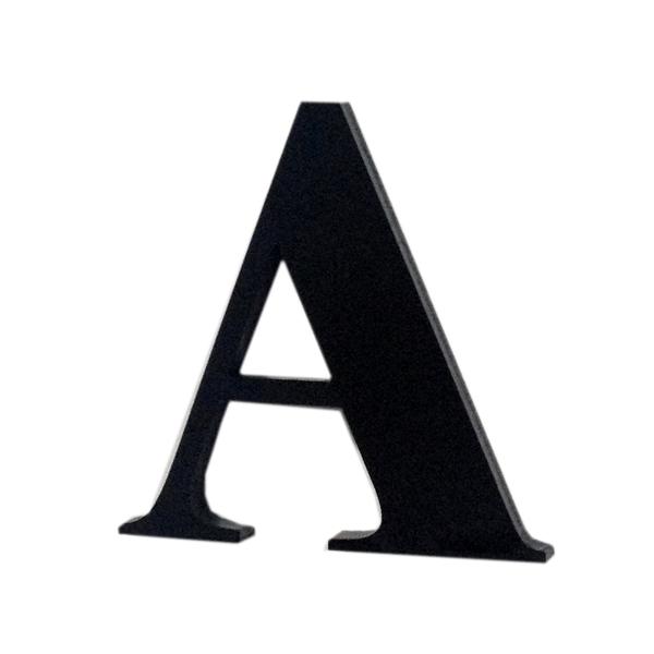 Letra apartamento a 4cm adesivo acr lico preto leroy - Letras adhesivas leroy merlin ...