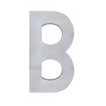 """Letra """"B"""" 22cm Alumínio Cinza"""
