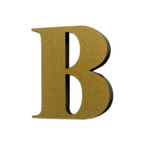"Letra ""B"" 4cm Acrílico Ouro Kami Acrílicos"