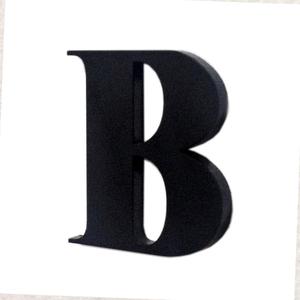 "Letra ""B"" 4cm Acrílico Preto Kami Acrílicos"