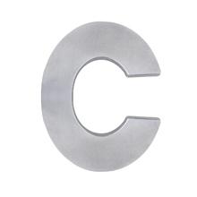"""Letra """"C"""" 22cm Alumínio Cinza"""