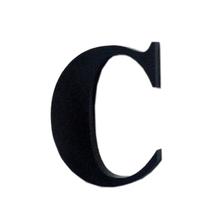 "Letra ""C"" 4cm Acrílico Preto Kami Acrílicos"