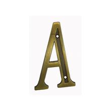 """Letra Casa """"A"""" 13cm Zamac Parafusar Dourado"""