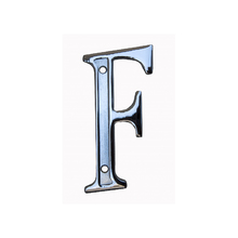 "Letra Casa ""F"" 13cm Zamac Parafusar Prata"