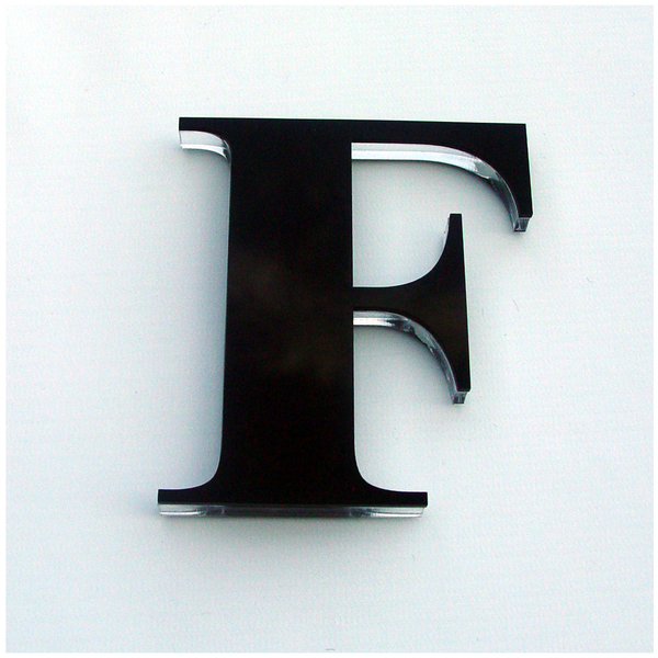 Letra casa f 11cm adesivo acr lico preto leroy merlin - Letras adhesivas leroy merlin ...