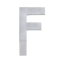 """Letra """"F"""" 22cm Alumínio Cinza"""