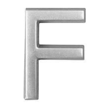 "Letra ""F"" ABS Prata Bemfixa"