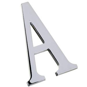Letra Letra A 12,8 cmx6,3 cm Cromado União Mundial