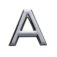 Letra para Apartamento Letra A 3,9 cmx1,8 cm Cromado Bemfixa