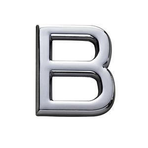 Letra para Apartamento Letra B 3,9 cmx1,8 cm Cromado Bemfixa