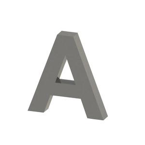Letra para residência Letra A 15 cmx15 cm Polido Italy Line