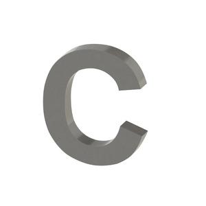 Letra para residência Letra C 15 cmx12,6 cm Polido Italy Line