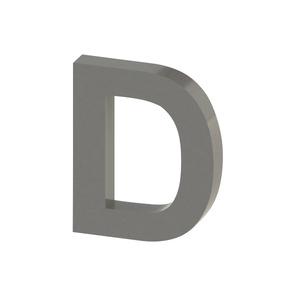 Letra para residência Letra D 10 cmx8,3 cm Polido Italy Line