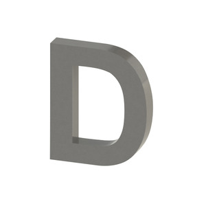 Letra para residência Letra D 15 cmx12,5 cm Polido Italy Line