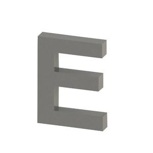 Letra para residência Letra E 15 cmx11,3 cm Polido Italy Line