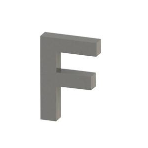 Letra para residência Letra F 15 cmx10,3 cm Polido Italy Line