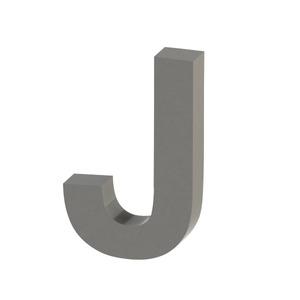 Letra para residência Letra J 10 cmx6,2 cm Polido Italy Line