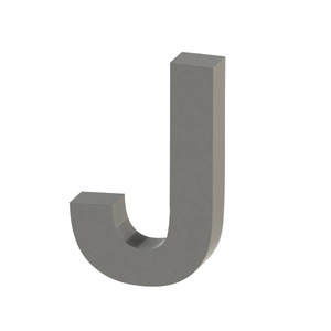 Letra para residência Letra J 30 cmx18,8 cm Polido Italy Line