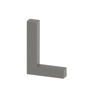 Letra para residência Letra L 10 cmx7,1 cm Polido Italy Line