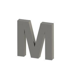 Letra para residência Letra M 20 cmx19 cm Polido Italy Line
