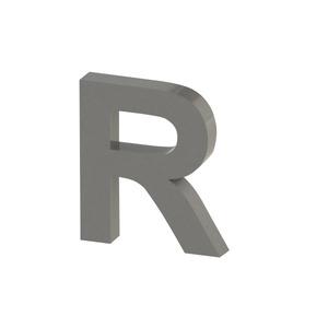 Letra para residência Letra R 20 cmx17,9 cm Polido Italy Line