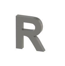 Letra para residência Letra R 40 cmx35,9 cm Polido Italy Line