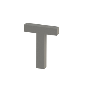 Letra para residência Letra T 10 cmx7,9 cm Polido Italy Line