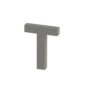 Letra para residência Letra T 20 cmx15,8 cm Polido Italy Line