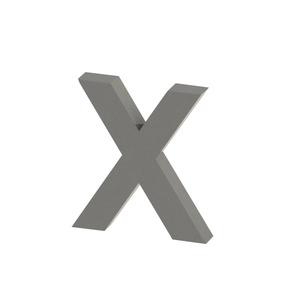 Letra para residência Letra X 20 cmx18,5 cm Polido Italy Line