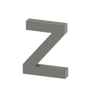 Letra para residência Letra Z 10 cmx8,1 cm Polido Italy Line