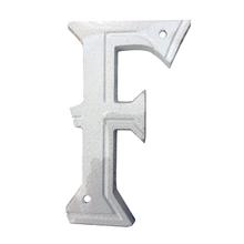 """Letra Residencial """"F"""" 16cm Alumínio Branco"""
