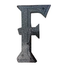 """Letra Residencial """"F"""" 16cm Alumínio Prata"""
