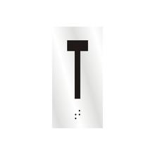 "Letra ""T"" 7cm Alumínio Prata Sinalize"