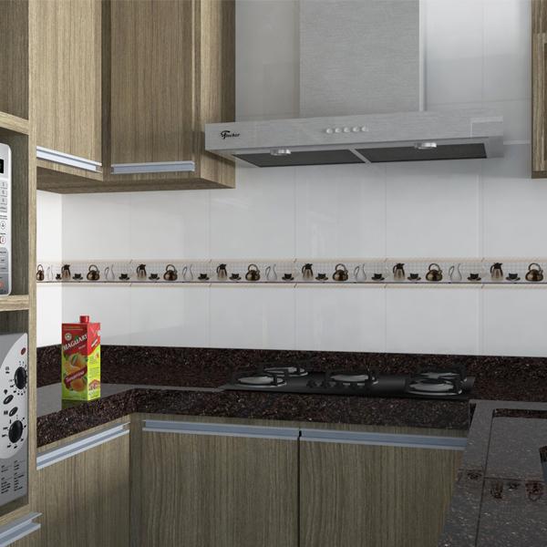 Faixa decorativa flecha cer mica in23028 7x33cm gabriella for Ceramica decorativa pared