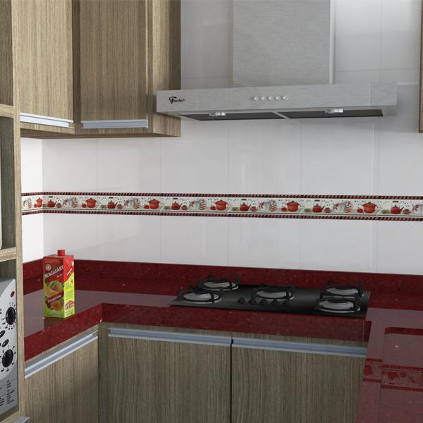 Faixa decorativa flecha cer mica in13019 7x33cm gabriella for Ceramica decorativa pared