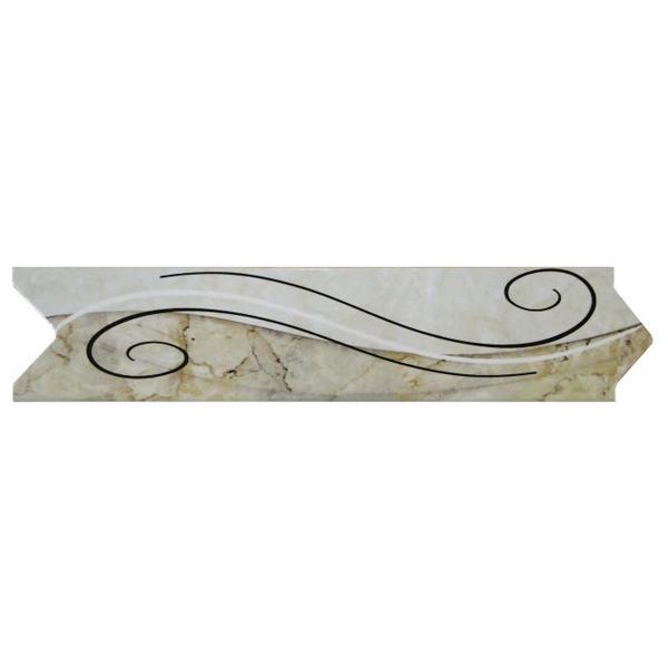 Faixa decorativa flecha cer mica in23008 7x33cm gabriella for Ceramica decorativa pared