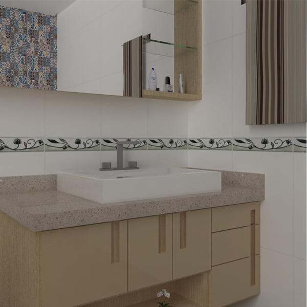 Faixa decorativa retangular cer mica glr1052 8 5x35cm for Ceramica decorativa pared