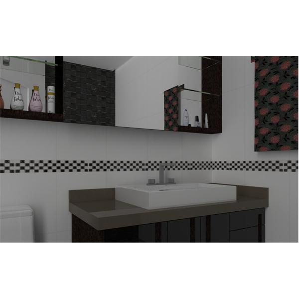 Faixa decorativa retangular cer mica glr1095 8 5x35cm for Ceramica decorativa pared