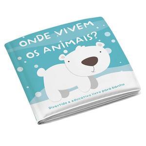 Livro Educativo para Banho Infantil Bichos MultiKids Baby
