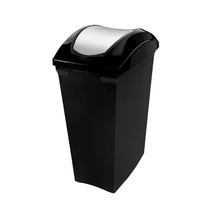 Lixeira Basculante em Plástico Preto 40L Slim Sanremo