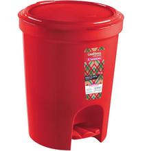 Lixeira com Pedal 13,5L Casar Colors Vermelho