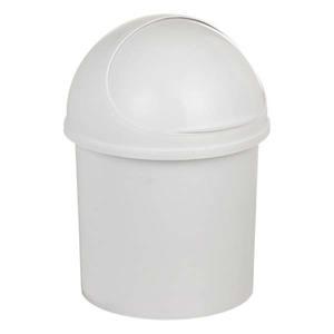Lixeira de Banheiro com Tampa Retrátil Pia Plástico 5L Branco 30x21,5x17,5cm Pavão