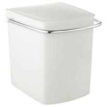 Lixeira de Banheiro Chão 15L ABS Gelo Cris Metal