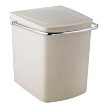 Lixeira de Banheiro Chão 15L Plástico Bege Cris Metal