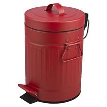 Lixeira de Banheiro Chão 3L Ferro Vermelho Importado