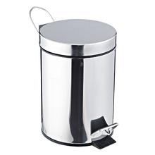 Lixeira de Banheiro Chão 3L Inox Prata Importado