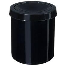 Lixeira de Banheiro Chão 4,3L Plástico Preta Basculante Primafer